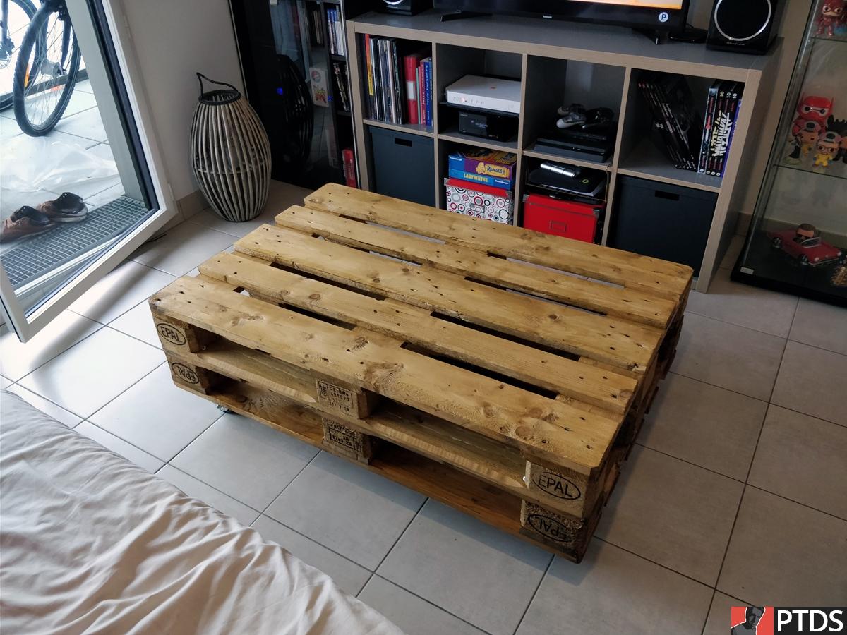 Table Basse Palettes - En place