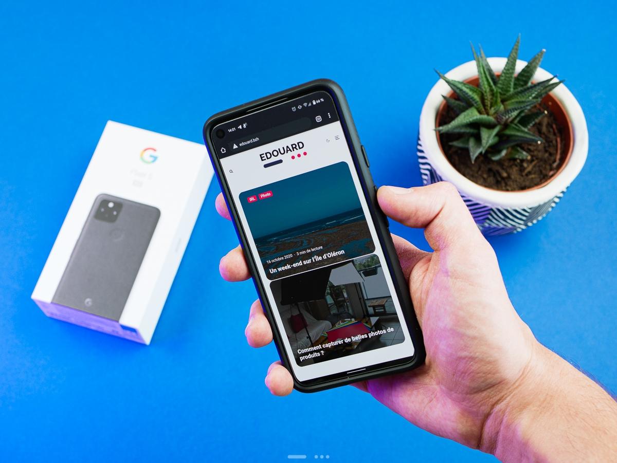Google Pixel 5 : prise en main